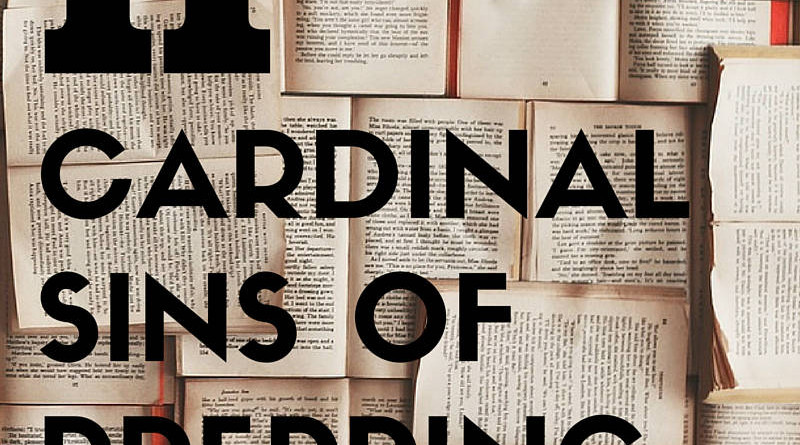 11 Cardinal Sins of Prepping