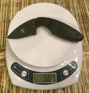 KA-BAR TDI law enforcement knife weight
