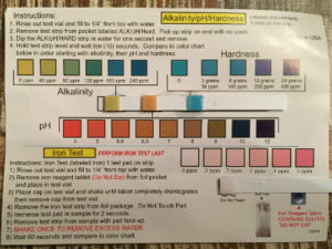 ph Hardness Water Test Results