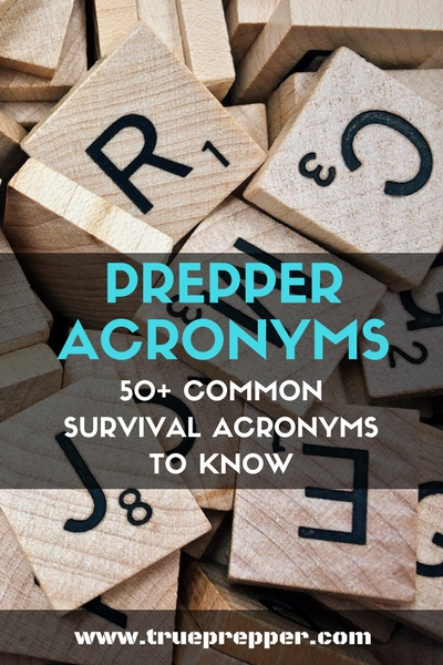 Prepper Acronyms: Common Survival Acronyms to Know