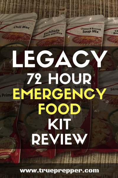 Legacy 72 Hour Emergency Food Kit Review Social