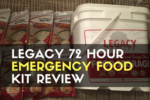 Legacy 72 Hour Emergency Food Kit Review