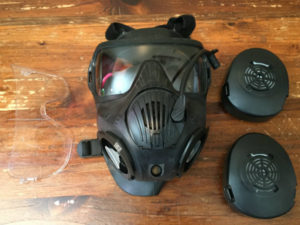 M50 Gas Mask Disassembled