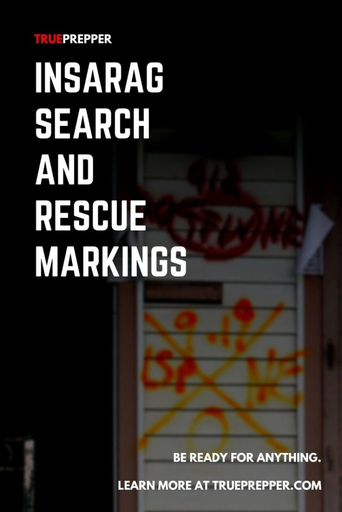 INSARAG Search and Rescue Markings