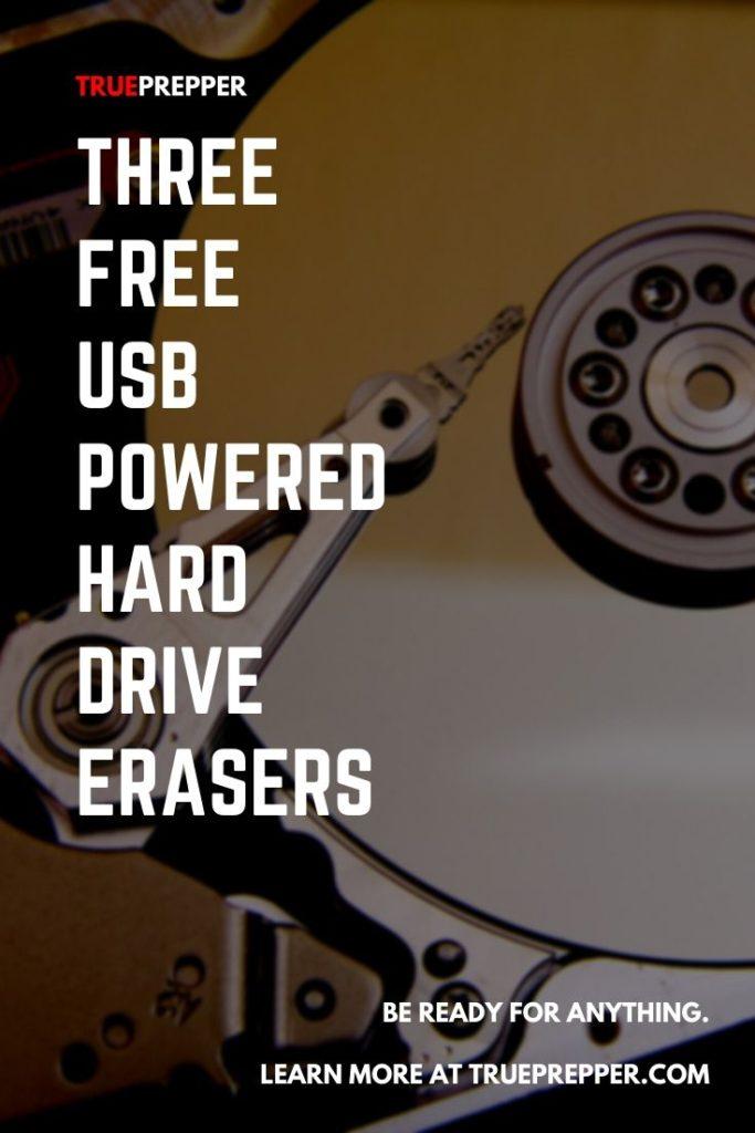 Three Free USB Powered Hard Drive Erasers
