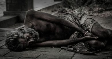 Homeless Starving Without Food