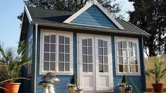 Pinecrest Cabin Kit Complete with Blue Paint
