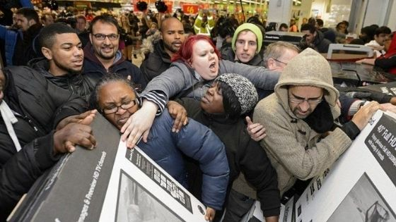 Black Friday rush on TVs
