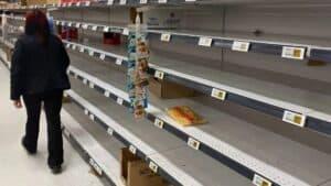 Empty Grocery Shelves