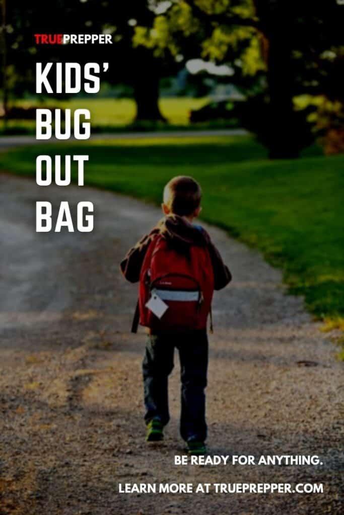 Kids Bug Out Bag