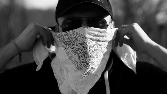 Cheap paisley bandana face covering