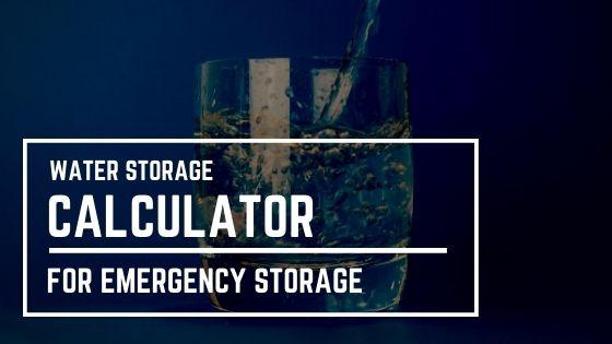 Water Storage Calculator