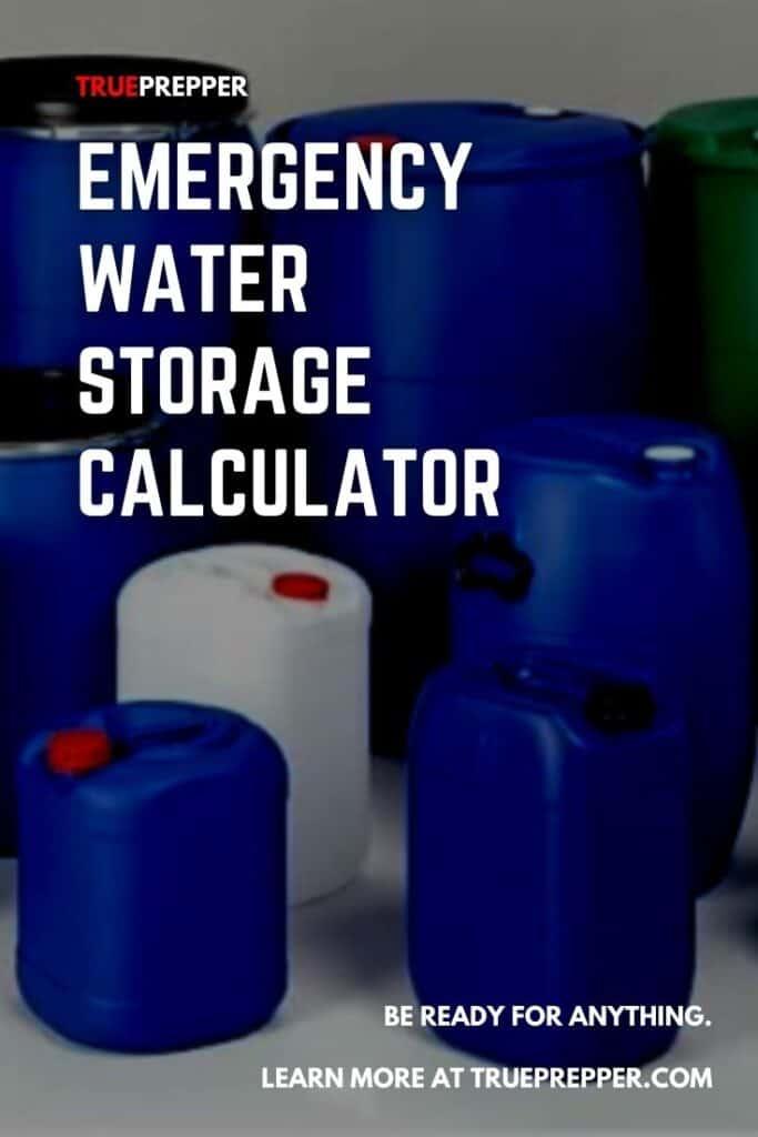 Emergency Water Storage Calculator